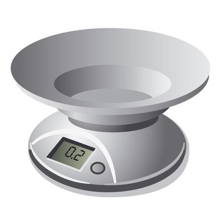 gram: Kitchen digital weight scale Illustration