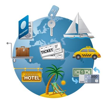 clave sol: icono concepto de viaje