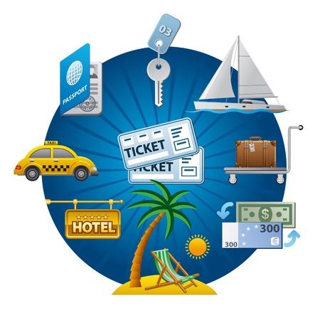 transporte: icono concepto de viaje