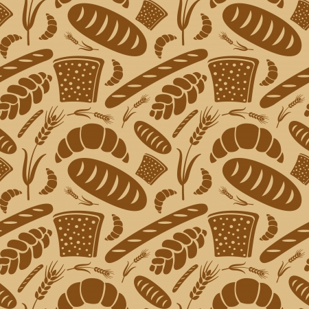 loaf of bread: bread seamless pattern