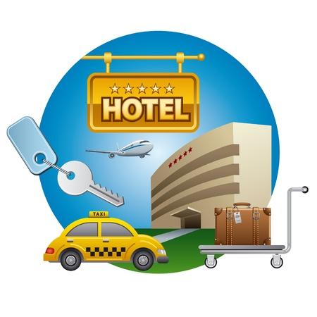 airplain: hotel service icon