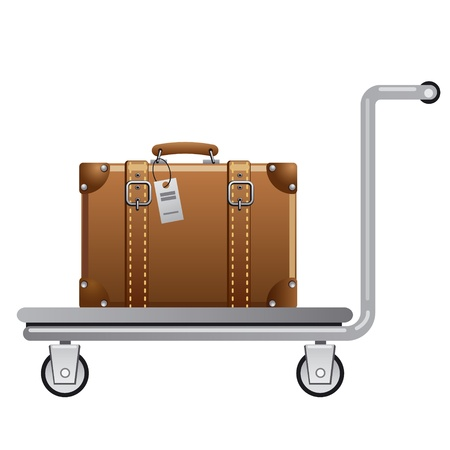 trolley case: luggage cart Illustration