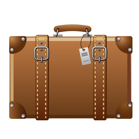 old suitcase: suitcase icon