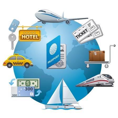 airplain: travel icon concept Illustration