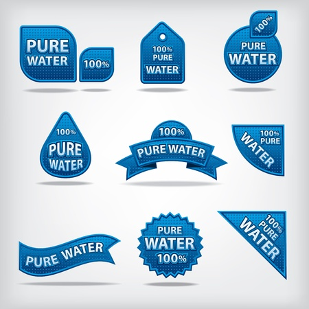 pure water labels Stock Vector - 21746650