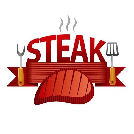 steak badge Stock Vector - 22174051