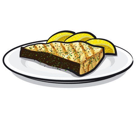 grilled fish: baked fish