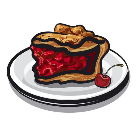 tarte aux cerises: tarte aux cerises Illustration