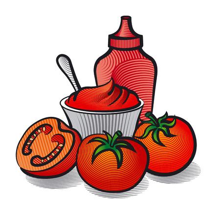ketchup: tomatoes and ketchup