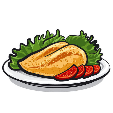 chicken breast Illustration