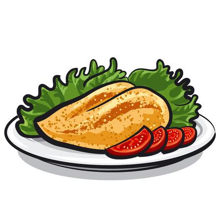 chicken breast Stock Illustratie
