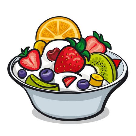 salads: fresh fruit salad Illustration
