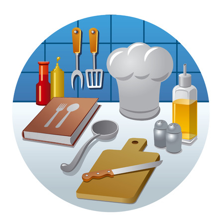 cooking book: cooking icon concept