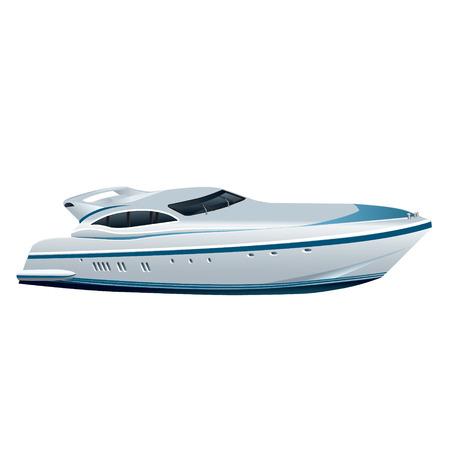 speed luxury yacht Illustration