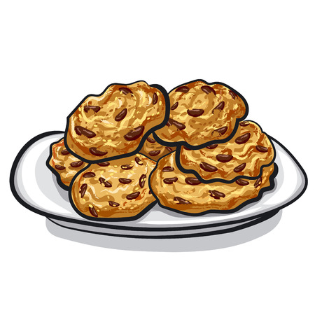 오트밀 쿠키 스톡 콘텐츠 - 25929078