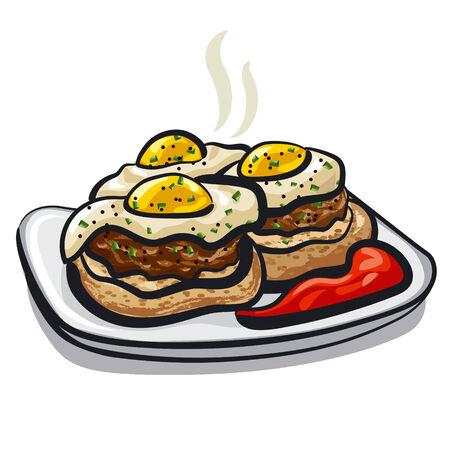 チャイブ: 卵のカツレツ