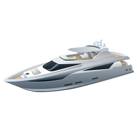 power boat: speed luxury yacht  Illustration