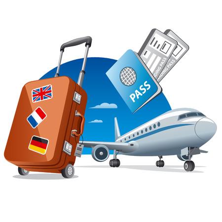 airplane travel: air travel Illustration