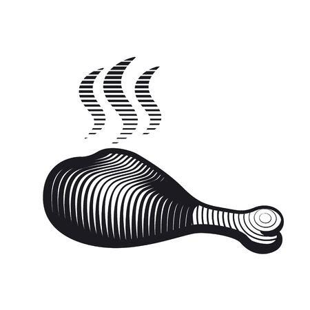 chicken drumstick Illustration