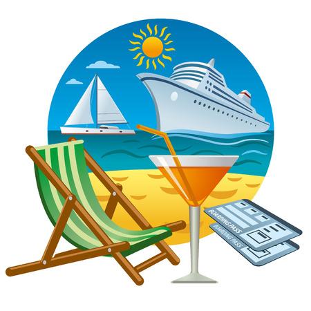 sea trave concept icon