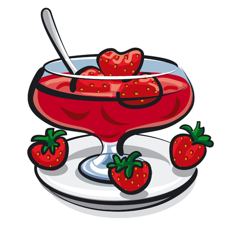 strawberry jelly: strawberry jam