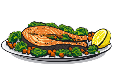 salmon fillet: baked salmon