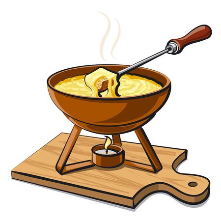 cheese bread: fondue
