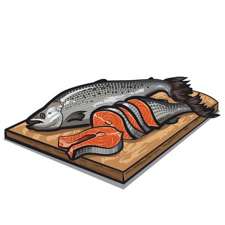 salmon fillet: raw salmon