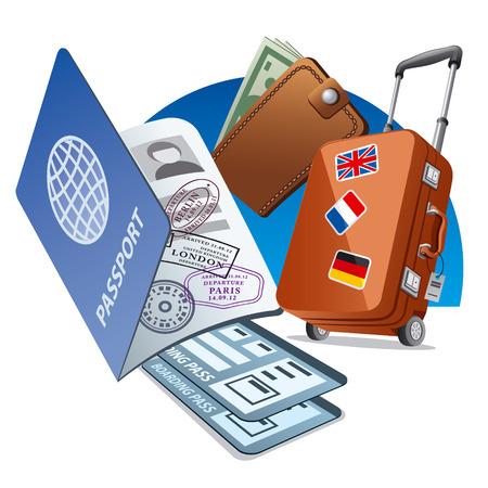 airplane travel: travel concept
