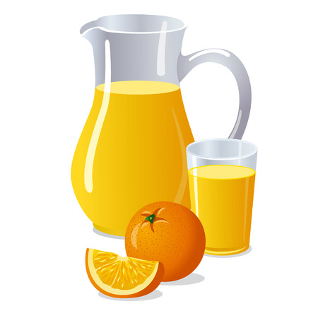 orange juice: orange juice Illustration