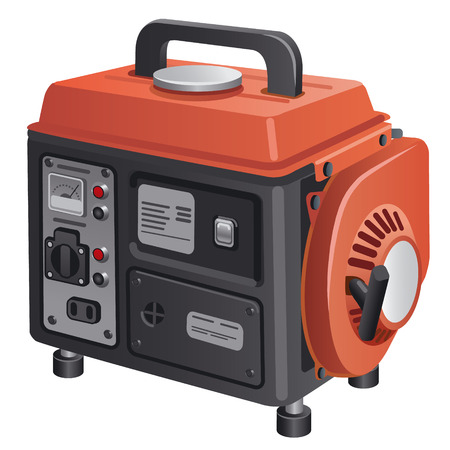 diesel generator: mobile generator Illustration