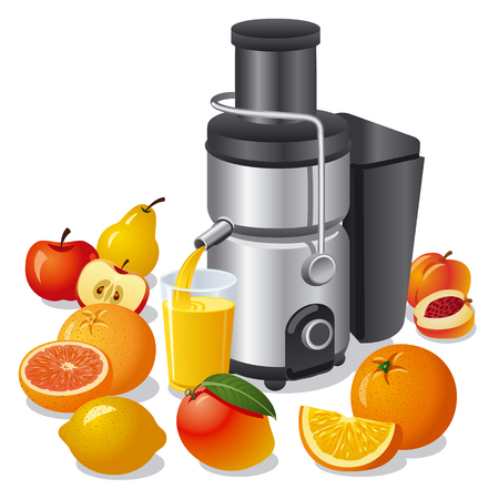 juice extractor: electric juicer and fruits
