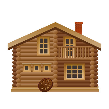 lodge: wooden house