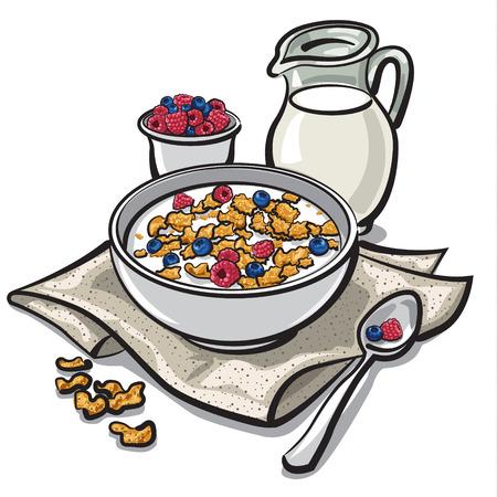 cereal breakfast Vector