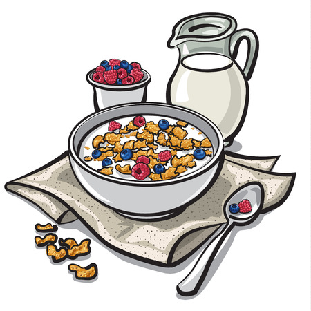 cereal bowl: cereal breakfast