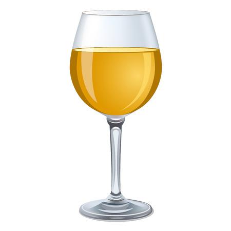 blanc: vaso de vino blanco