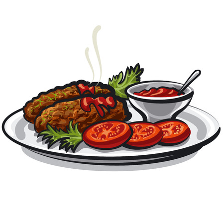 sirloin: cutlets with sauce