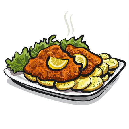 fried: roasted schnitzel