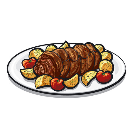roast lamb: meat roulade
