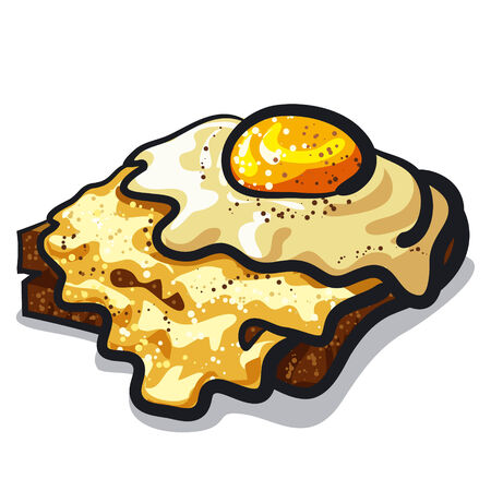 toasted: toast with egg and cheese