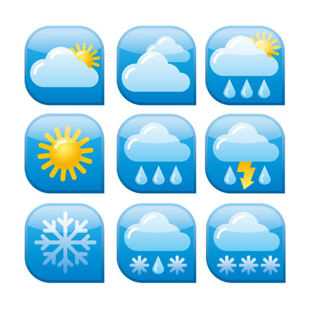 rainstorm: weather icon set Illustration