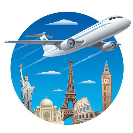 air travel: concetto di viaggio aereo