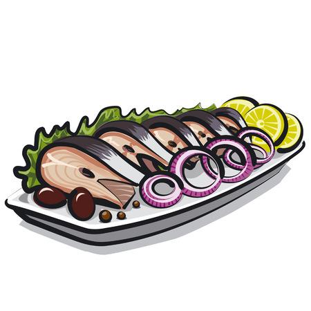 herring: herring dish Illustration