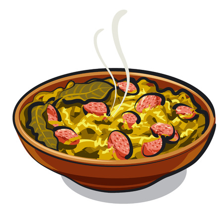 comida alemana: chucrut