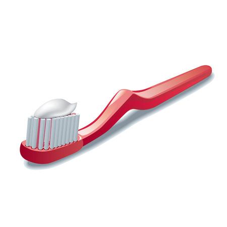 fluoride: toothbrush Illustration