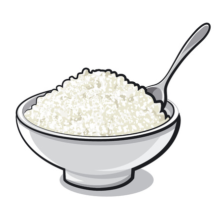 cottage cheese: curd