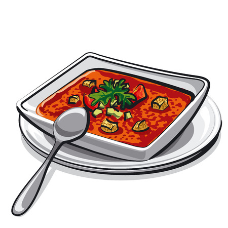 gazpacho: gazpacho soup Illustration