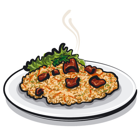 raisin: pilaf Illustration