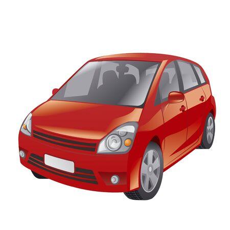hatchback: red car