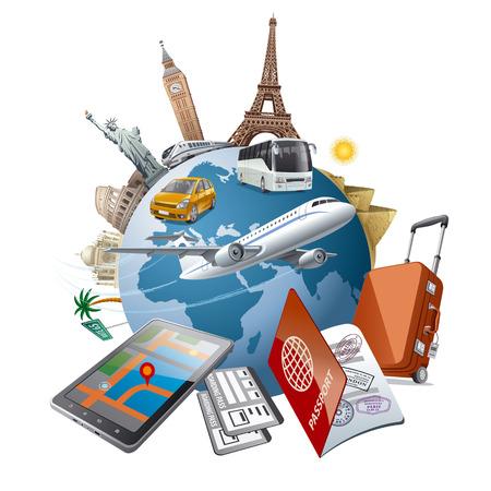world tour Ilustrace